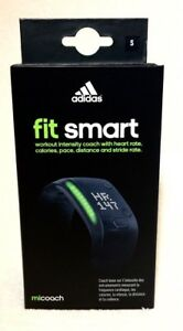 Adidas miCoach Fit Smart workout coach with heart rate BLACK Size S
