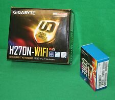 Intel I7-7700K 4.2GHz Quad Core + Gigabyte H270N-WiFi MOTHERBOARD COMBO NEW
