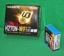 Intel I7-7700K 4.2GHz Quad Core + Gigabyte H270N-WiFi MOTHERBOARD COMBO NEW