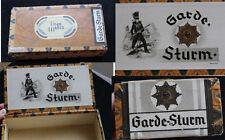 Original alte dekorative Ziggarren - Kiste GARDE - STURM Zigarren