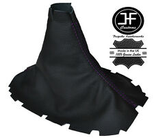 Purple stitch pour ford mustang 2005-2010 manuel cuir shift boot gear gaiter