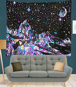 Tapestry Wall Hanging Line Mountain Moon Star Mandala Tapiz Witchcraft Sun Decor