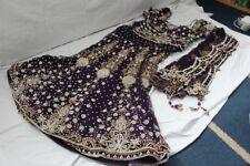 INDIAN Vestito DA SPOSA-MATRIMONIO Lengha-Abito da sposa