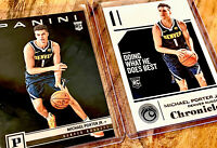 Michael Porter Jr. 2018-19 Panini Chronicles Lot Of (2) Rookie Nuggets RC Hot!