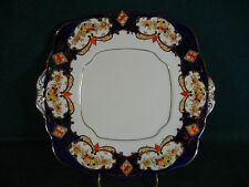 "Royal Albert Heirloom Crown 4534 Imari Derby Handled 9 3/4"" Cookie / Cake Plate"