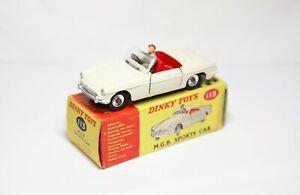 Dinky 113 MGB Sports Car In Its Original Box - Near Mint Vintage Original