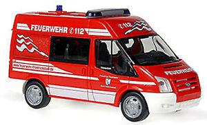 Ford Transit Elw Fire Brigade Bath Friedrichshall 1:87 Rietze 51524