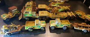 14 Piece Vintage 1980's Tonka Brand Army Toys 1/43 Scale