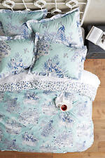 NWT ANTHROPOLOGIE BLUE WILLOWHERB QUEEN DUVET COVER *BRAND NEW IN PACKAGE*
