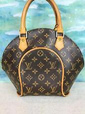 $1120 LOUIS VUITTON Ellipse PM Brown Monogram Canvas Satchel Bag Leather SALE!