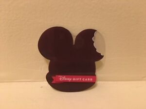 Disney Collectable Gift Card NV Mint Ice Cream Bar Mickey Mouse Ears Collectible