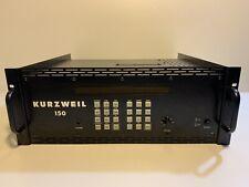 Kurzweil K150 Expander/Synthesizer Rack-module + Original Bedienungsanleitung