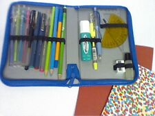 PENCIL CASE ZIPPED FILLED WITH 19 ITEMS WITH PLAIN AND RULED EXERCISE BOOKS