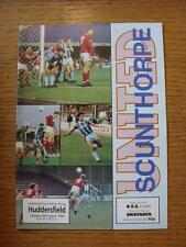 30/08/1988 Scunthorpe United v Huddersfield Town [Football League Cup] (No Appar