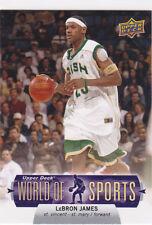 LeBRON JAMES High School IRISH JERSEY Basketball Card WORLD of SPORTS Miami Heat