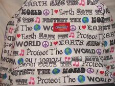 NWT RARE WHITE DICKIES SAVE THE EARTH PATTERN PACK~FREE US SHIP~LAST ONE