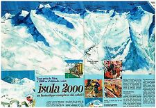 Publicité Advertising 1970 (2 pages) La Station de Ski Isola 2000