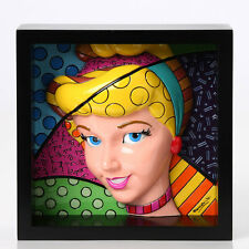 "Romero Britto Disney Framed Pop Art Block 3-D Cinderella ""Pop Princess"""