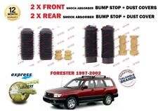 FOR SUBARU FORESTER 2.0 1997-2002 2x FRONT & 2x REAR BUMP STOPS + DUST COVER KIT