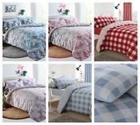 Duvet Cover with Pillowcase Polycotton Bedding Set Single Double King All Sizes