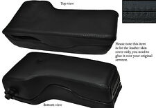 BLACK STITCHING LEATHER ARMREST SKIN COVER FITS AUDI A6 1995-1998