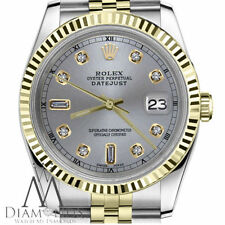 Ladies Rolex 31mm Datejust 2 Tone Slate Grey Color Dial with 8+2 Diamond Accent