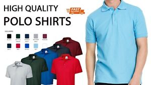 PLAIN No Text POLO SHIRT Classic Mens Work Wear Sport Team Party Summer Clothing