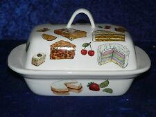 Cakes colourful porcelain traditional deep white butter dish Baking design