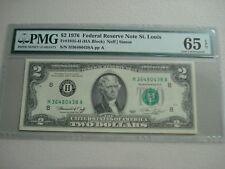 GEM UNC PMG CERTIFIED 65 1976 $2 FRN, BANK OF ST LOUIS    9-20
