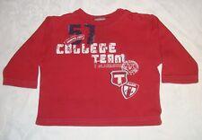 Baby Jungen T-Shirt Langarm SANETTA Gr. 82 rot mit Motiv