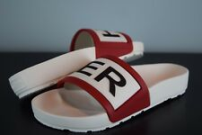 NIB! Womens HUNTER Original Slides Italy sz 8 US RUNS BIG black red white