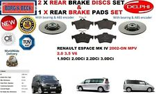 Für Renault Espace IV 2.0 3.5 1.9 2.2 2002- Bremsscheiben Set Hinten+
