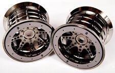 "Axial BLACK Chrome Bead-Lock 8 Spoke 3.8"" 40 Truck Wheels (2 14/17mm Hex  AX8046"