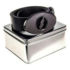 UFFICIALE DC COMICS Il Flash Logo Cintura Nera in scatola di latta regalo-Taglia unica