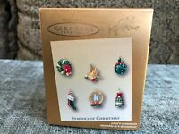 Hallmark Keepsake 2003 Symbols of Christmas Set of 6 Miniature Ornaments