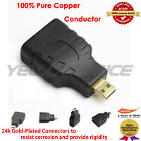HDMI Type A Female to Micro HDMI Type D Male Adapter Converter+1080P HDMI Cable