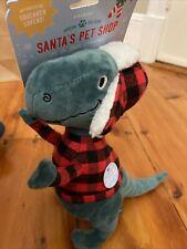Fringe |  Christmas Fa Ra Rawr Rex | Squeaky Plush Dog Toy