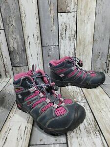 Girls Keen Boots Sz 13 Waterproof Hiking Blue and Pink