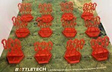 BattleTech - Radar Blips - 12x Battlemechs Numbered 1-12