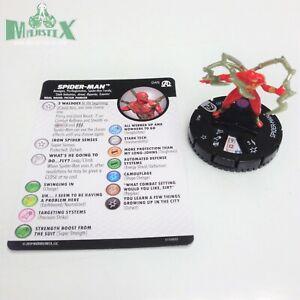 Heroclix Avengers: Black Panther & Illuminati set Spider-Man #045 Rare w/card!