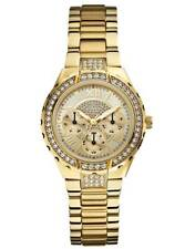 NEW GUESS Women's Sparkling Hi-Energy Mid-Size Gold-Tone Watch U0111L2