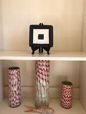 Black & Ivory White modern SQUARE decorative Display dish plate