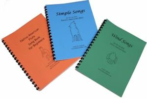 Songbook SET for 6 hole Native American Flute 3 Song Books
