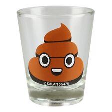 Pile of Poop Emoji Clear Party Shot Glass Novelty Joke Gag Gift