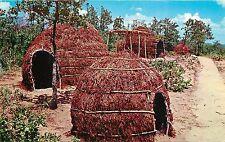 Vintage Postcard Apache Wiki-UP Indian City USA Anadarko OK Caddo County