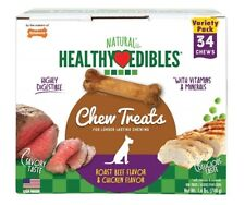HEALTHY EDIBLES Roast Beef/Chicken Flavored Variety Dog Treats Petite - 34 Chews