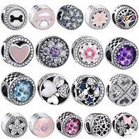 2018 Openwork Zircon Silver Bead Jewelry For Sterling 925 Charm Bracelets Chain