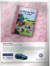 Publicité Advertising 2004 VW Volkswagen Touran 7 places