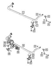 Genuine MOPAR Front Stabilizer Bar 52059971AC