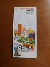 RAND MCNALLY NASHVILLE TENNESSEE ROAD MAP BELLE MEADE FOREST HILLS OAK HILL